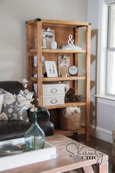 diy pottery barn inspired bookcase shanty  chic