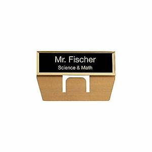 engraved metal pocket name badge 34 x 2 34 blackgold by With custom name badges office depot