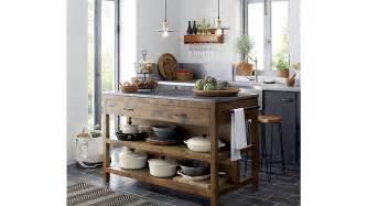 kitchen island large bluestone reclaimed wood large kitchen island crate and barrel