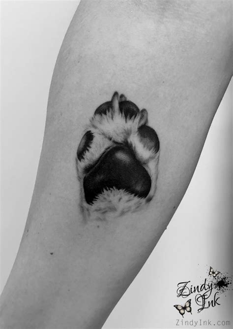 Dog Paw Tattoo by Zindy on DeviantArt