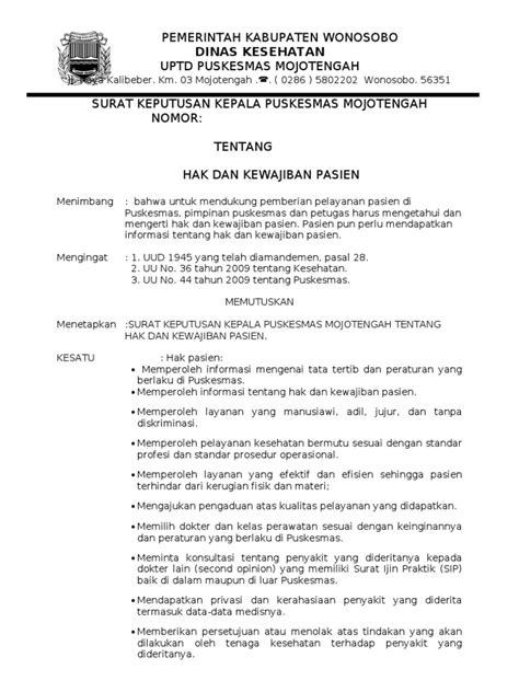 sk hak kewajiban pasien