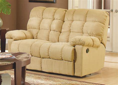 Tan Microfiber Fabric Modern Reclining Sofa Woptional Items