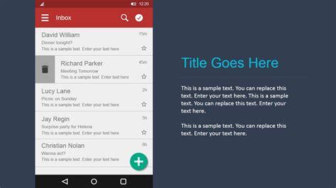 android ui design kit  powerpoint slidemodel