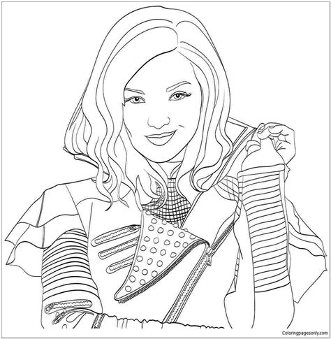 descendants  coloring pages visual arts ideas