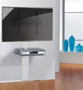 Design Wandhalterung Tv : stabile tv wandhalterung mit aluminium kabelkanal und decoder glasfachboden ~ Sanjose-hotels-ca.com Haus und Dekorationen