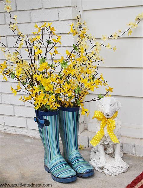 Adorable Rain Boot Planter Ideas A Cultivated Nest
