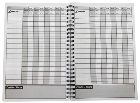 weight training log book strength shop training log journal book