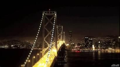 Bridge Lights Gifs Cars Giphy Puente Tweet