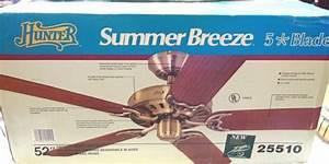Hunter 25510 Summer Breeze 52 U0026quot  5 Blade Ceiling Fan New