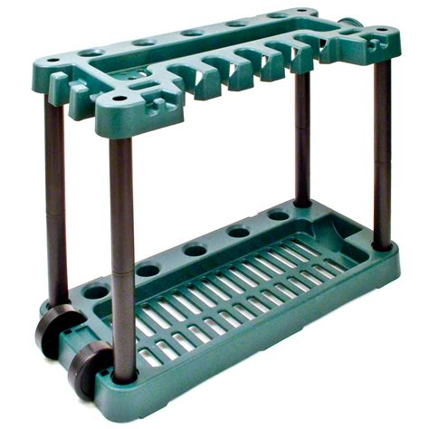 garden tool rack garden tool storage rack holder on wheels shed gardening