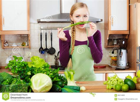 healthy green kitchen in kitchen with green vegetables stock 1597