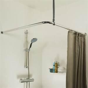 Barre De Baignoire D Angle A Ventouse : sealskin seallux support plafond pour barre de douche d ~ Premium-room.com Idées de Décoration