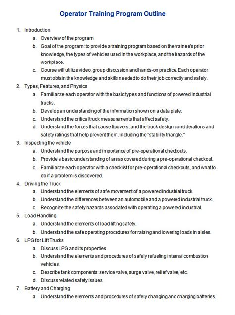 course outline template program outline template 7 free free word pdf format free premium templates