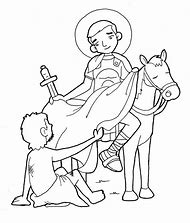 st martin coloring page