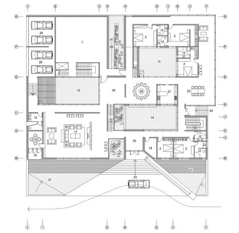 architecture plans gallery of the concave house tao architect studio 21