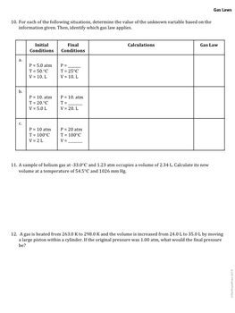 ap chemistry big idea 2 worksheet empirical gas laws by the triple point