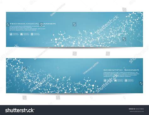 molecular templates stock two scientific banner molecular structure dna stock vector 604273892