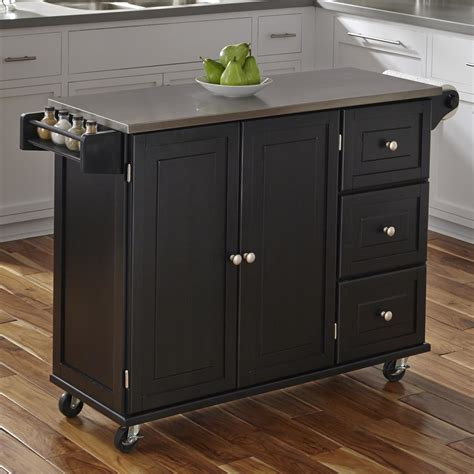 kitchen island with stainless top home styles liberty kitchen island with stainless steel top reviews wayfair