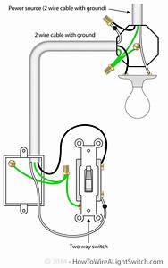 2 Way Light Switch Wiring Diagram Diagrams For