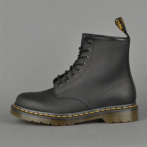 dr martens  black greasy