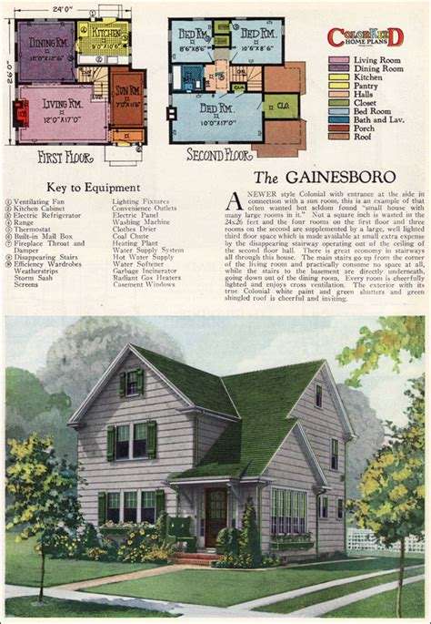 modern colonial house plans 1927 gainsboro two modern colonial vintage 1920s