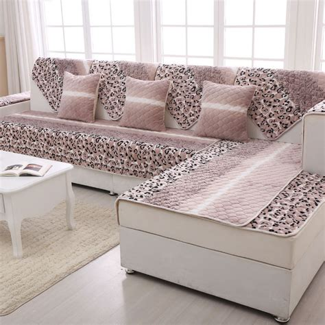 flannel sectional sofa slip cover plush blanket   sofa chair seat cushions winter canape