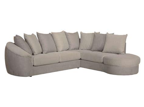 canapé d 39 angle fixe droit 5 places en tissu boreal coloris