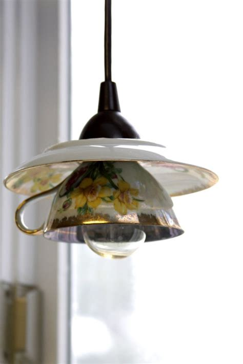 eye catchy diy teacup pendant light shades shelterness