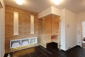 Sauna Für Badezimmer : steinwand in der sauna modern badezimmer sonstige ~ Watch28wear.com Haus und Dekorationen