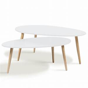 Table Basse Scandinave Blanche : table basse gigogne style scandinave ~ Teatrodelosmanantiales.com Idées de Décoration