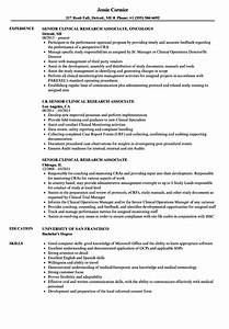 senior clinical research associate resume samples With clinical research associate resume sample