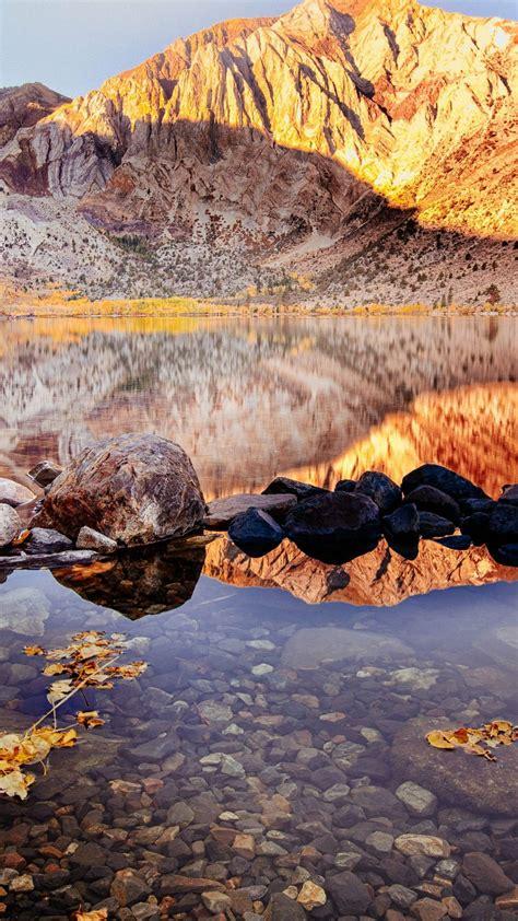 wallpaper convict lake autumn mount morriso california