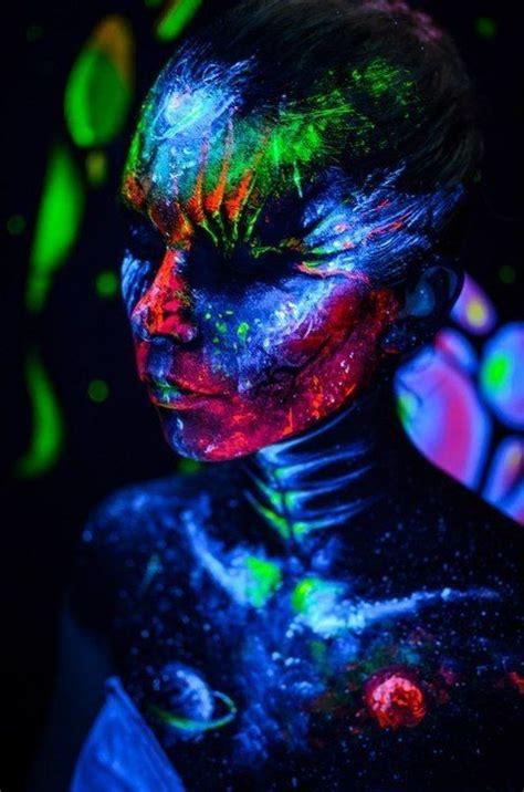 neon paint splatter neon painting body painting female art