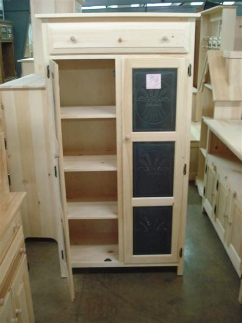 Tall Amish Pie Safe   Lam Brother's Unfinished Furniture