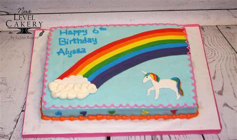 Cake Sheet Birthday Unicorn Rainbow