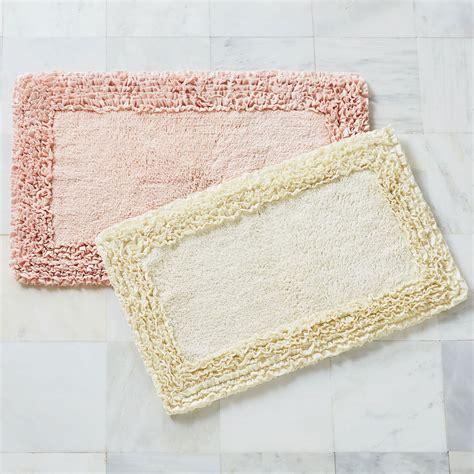 ruffle border bath rug collection bath rugs bath mats