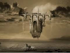Modern art surrealism poster  print  wallpaper  Infinite Improbability      Modern Surrealism Wallpaper