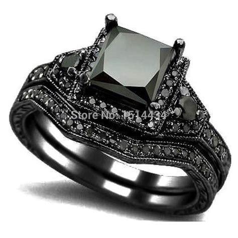 Aliexpresscom  Buy Size 5 11 Black Rhodium Princess Cut