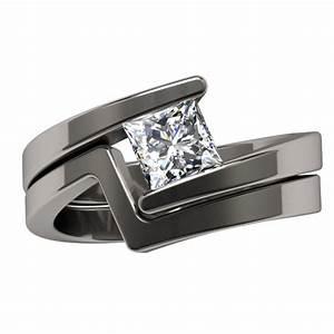 Women S Titanium Diamond Rings Wedding Promise Diamond
