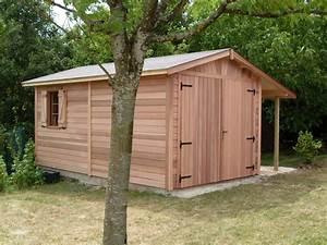 garage bois anjou 300mx500m avec bucher cerisier With cerisier abri de jardin