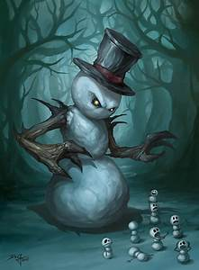 The Evil Snowman | Things to draw for people or me ...
