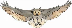 Owl clipart fly - Pencil and in color owl clipart fly