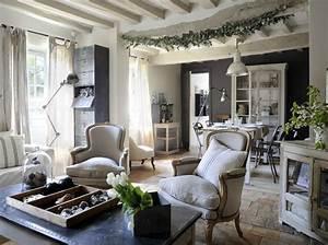 Rideaux Style Romantique : rideaux style campagne chic murs pierre maison de ~ Melissatoandfro.com Idées de Décoration