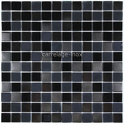 tile stainless steel and glass mosaic in stainless steel and glass doblo noir carrelage inox fr