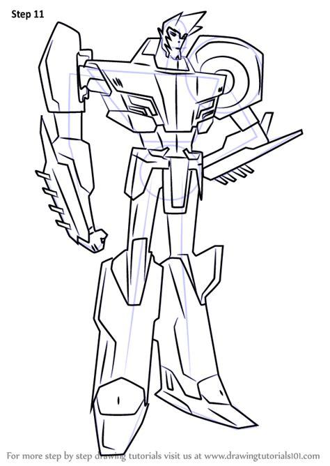 learn   draw sideswipe  transformers transformers step  step drawing tutorials