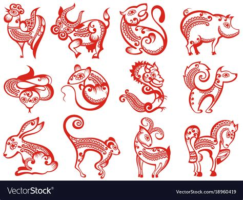 Chinese Zodiac Animals In Paper Cut Style Vector Image Arts United Grants Fire Yarn Art Miguel Dealer Chic Zip Naive Fish London Ontario Shape Rubric Animal Crossing Activities Stage 3