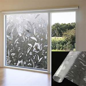 3d autocollant anti vue amovible mate depoli film vitre With porte d entrée pvc avec film adhesif fenetre salle de bain