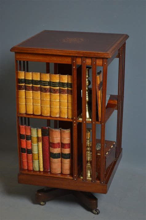Edwardian Revolving Bookcase  Antiques Atlas