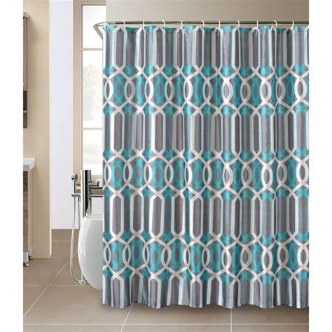 Teal Chevron Bathroom Set by Plato Shower Curtain And Hook Set