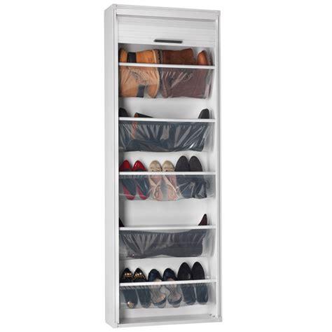 meuble de rangement bureau à rideau panneau coulissant rangements chaussures maison futée